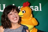 LAS VEGAS - APR 22:  Kelly Vrooman, Chica The Chicken at the NBCUniversal Summer Pres Day 2013 at th