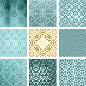 stock photo of symmetry  - Retro background set - JPG