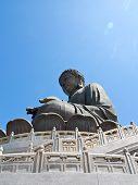 image of lantau island  - The Bronze Buddha statue in Lantau Island of HongKong - JPG