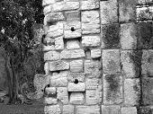 stock photo of conquistadors  - Mayan ruins of Chichen Itza in Yucatan Mexico Chac Masks - JPG