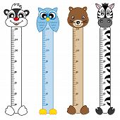 picture of measuring height  - Bumper children meter wall - JPG