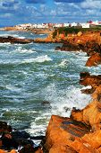 stock photo of asilah  - Stormy Atlantic Ocean in Asilah - JPG
