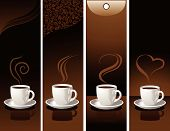 picture of coffee cups  - vector illustration of coffee banners for your design - JPG
