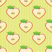 image of kiddie  - Halves apple in a shape of a heart - JPG