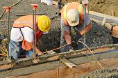 stock photo of foundation  - Pouring a foundation for a new commercial building in Roseburg Oregon - JPG