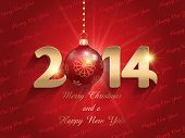 Happy New Year background with a bauble design
