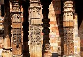 picture of qutub minar  - Detail of Qutub  - JPG