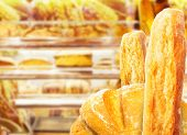 foto of opulence  - Fresh pastries lies on store shelves - JPG
