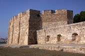 picture of larnaca  - The medieval small castle of Larnaca in Cyprus - JPG
