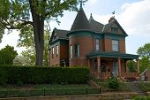 stock photo of victorian houses  - large and elegant victorian architecture - JPG