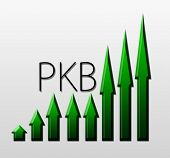 stock photo of macroeconomics  - Chart Illustrating Pkb Growth - JPG