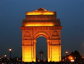 stock photo of indian  - India Gate in New Delhi - JPG