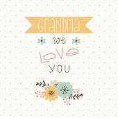 stock photo of grandma  - Happy mothers day card - JPG