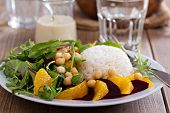 picture of chickpea  - Salad with beetroot - JPG