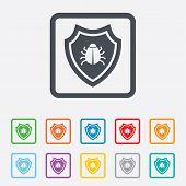 stock photo of shield-bug  - Shield sign icon - JPG