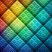image of spatial  - Colorful shiny geometric background - JPG