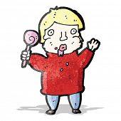 stock photo of greedy  - cartoon greedy boy - JPG