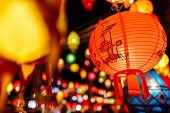 picture of singapore night  - Beautiful international lantern illuminating in night time - JPG