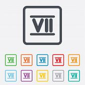 picture of roman numerals  - Roman numeral seven sign icon - JPG