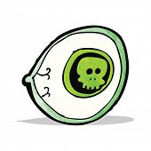 stock photo of all seeing eye  - spooky mystic eye cartoon - JPG
