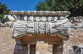 image of ionic  - Part of the capitals Ionic columns in the temple of Apollo in Didim - JPG
