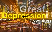 foto of stock market crash  - Software package box Word cloud concept illustration of Great Depression - JPG