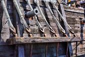 stock photo of christopher columbus  - Replicas of Christopher Columbus boats for his first voyage to the Americas the Ni - JPG