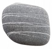 picture of dapple-grey  - one stone isolated on a white background - JPG
