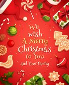 stock photo of christmas greetings  - Holiday frame - JPG
