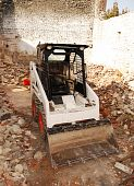 Bobcat Skid Loader In Derelict Building