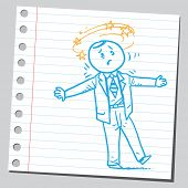 picture of dizziness  - Dizzy businessman - JPG
