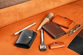 foto of leather tool  - Hand made leather man accessories and tools - JPG
