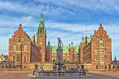 stock photo of palace  - Frederiksborg Palace is a palace in Hillerod Denmark - JPG
