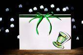 stock photo of leprechaun hat  - Greeting card for Saint Patrick - JPG