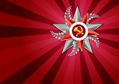 Постер, плакат: Holiday Background On Victory Day Or Defender Of The Fatherland Day May 9 February 23