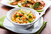 stock photo of tabouleh  - Cous Cous with vegetables and herbs - JPG