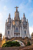 foto of sacred heart jesus  - Church of the Sacred heart of Jesus in Barcelona in Spain - JPG
