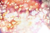 image of gold-dust  - Festive Background With Natural Bokeh And Bright Golden Lights. Vintage Magic Background With Color
