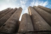 foto of elevators  - The granary of a abandoned grain elevator - JPG