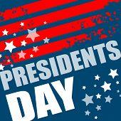 stock photo of patriot  - Presidents Day Vector Background - JPG
