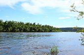 stock photo of kan  - Kan River and the Siberian taiga - JPG