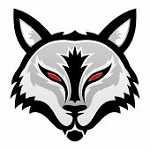 stock photo of wolf moon  - Vector wolf sign isolated on white background - JPG