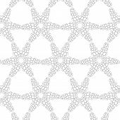 picture of primitive  - Primitive simple retro seamless pattern with lines and circles - JPG