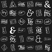 picture of ampersand  - Ampersands and catchwords the by and  with or for to at from - JPG