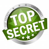 picture of top-secret  - colored round button with banner Top Secret - JPG