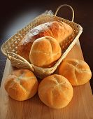 picture of bread rolls  - Crispy bread rolls - JPG