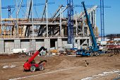 image of heavy equipment  - construction site with heavy equipment - JPG