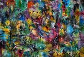 Постер, плакат: Абстрактная живопись цвета