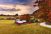 Rural autumn Jenne Farm in Vermont, USA. poster