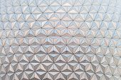 stock photo of geodesic  - Geodesic dome in a famous theme park in Orlando Florida - JPG